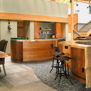 West Coast Fusion Eclectic Kitchen Vancouver The Sky Is Limit Design River Rock Floor Awesome