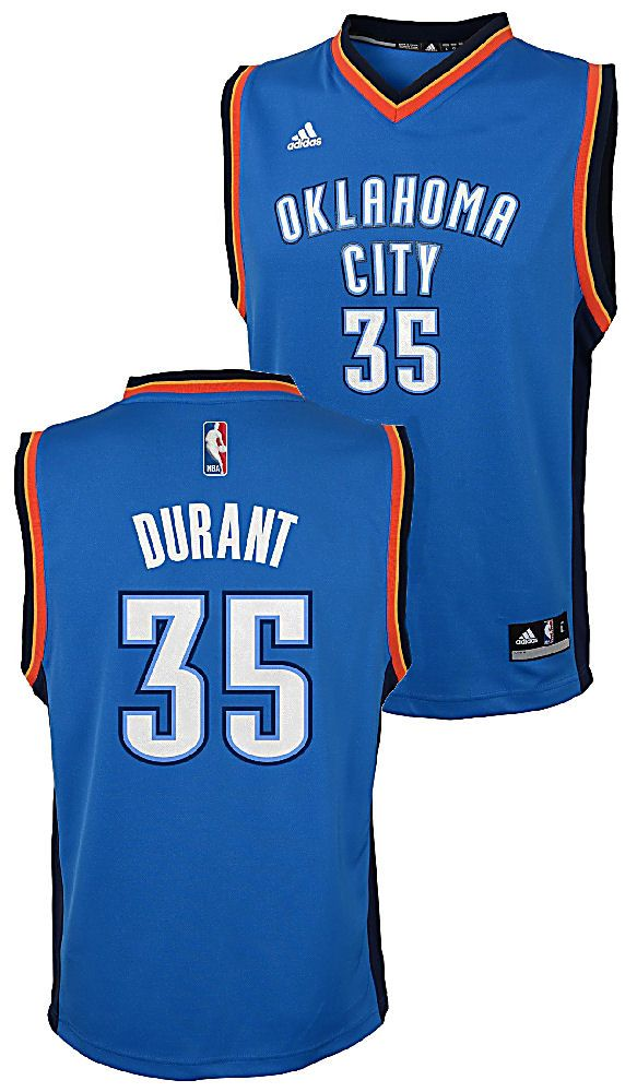timeless design 2dd9f 281e9 Kevin Durant Youth Oklahoma City Thunder Adidas Embroidered ...