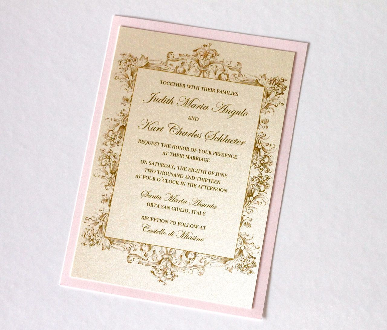 Cool Gold Wedding Invitations With Glamorous Touch | WEDDING ...
