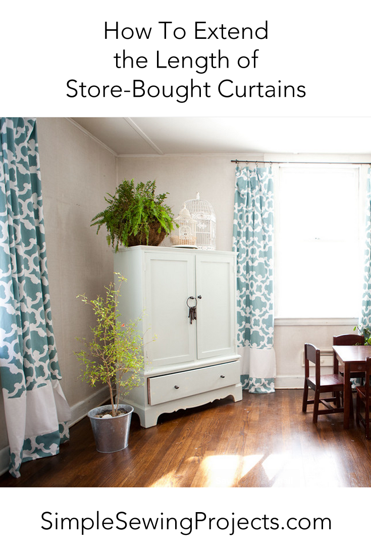 How To Extend the Length of Store Bought Curtains | Store, Diy ...