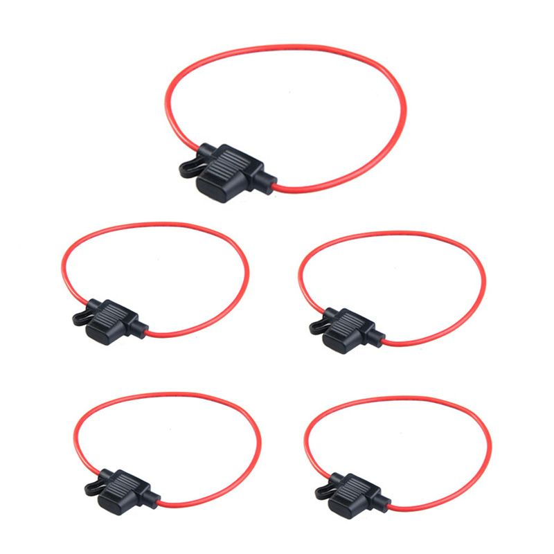 10PCS Waterproof Power Socket Mini Blade Type In Line Fuse Holders with 10A Fuse