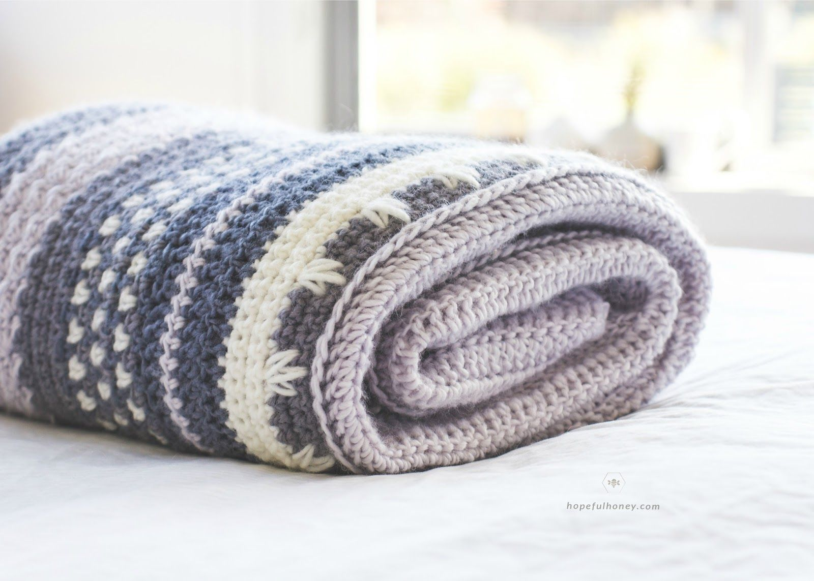 Winter Tempest Blanket - Free Crochet Pattern by | Manta, Ganchillo ...