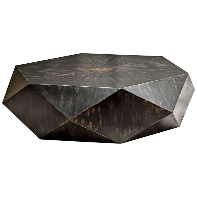 Volker 49 3 4 Wide Black Modern Geometric Coffee Table 35t64