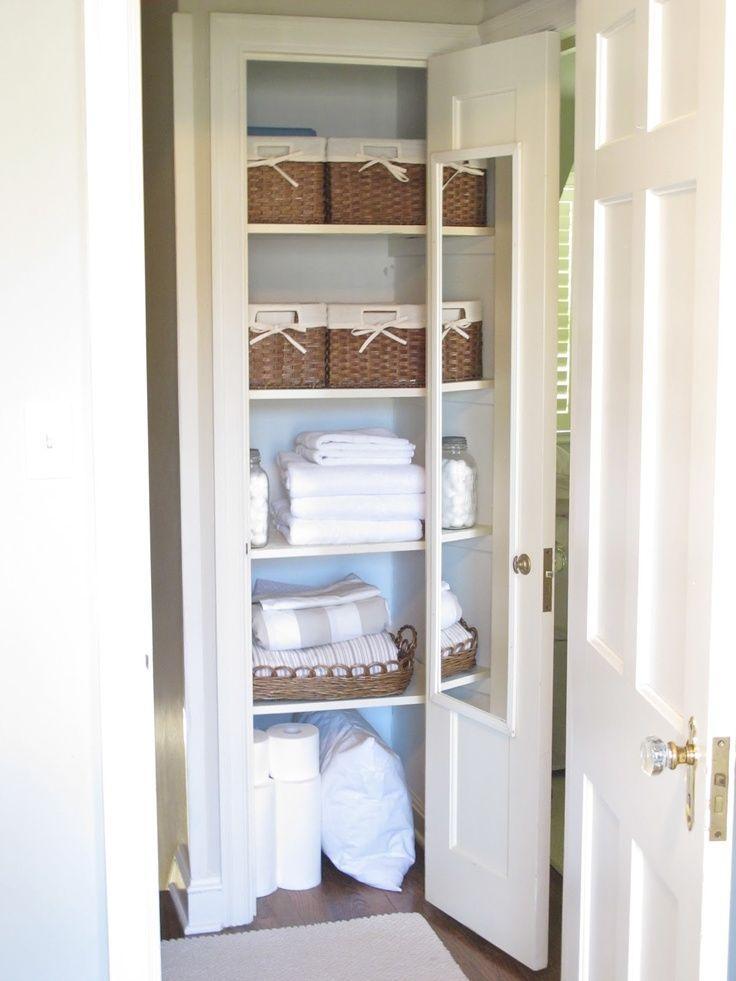 Linen Closet Small Linen Closets Closet Small Bedroom Modern Bedroom Storage
