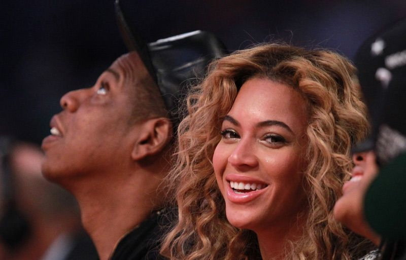 Beyonce and Jazy #NBAAllStar'13 #Houston