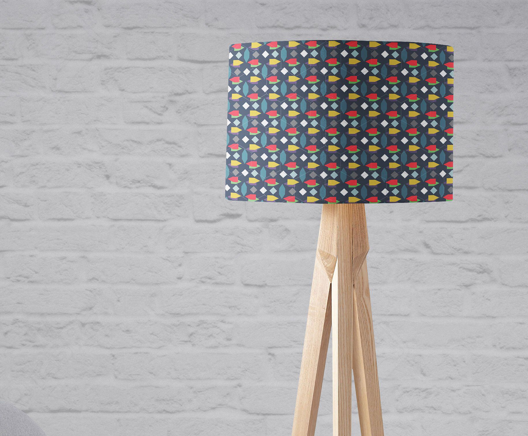 Dark Blue Lampshade Blue Living Room Abstract Lampshade Geometric Light Shade Modern Lampshade Lampshades For Floor Lamps Lampshade Blue Lamp Shade Modern Lamp Shades Small Bedside Lamps