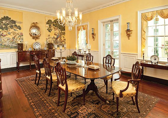 When They Purchased The House Dining Room Was Covered In Circa 1930s 1940s