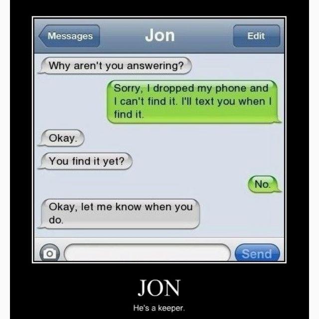 A smart one, that Jon!