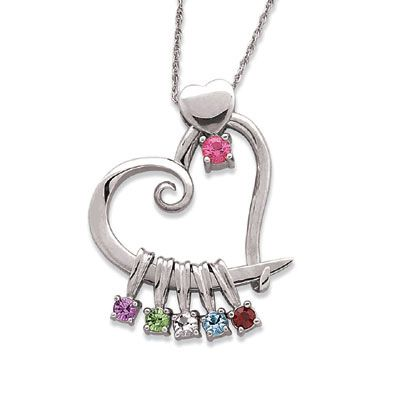 swirl made necklace birthstone com silver sterling family design amazon pendant custom jewelry stone dp