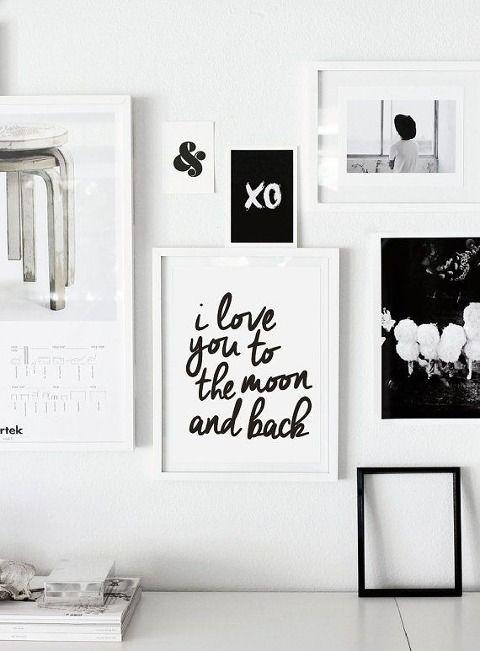 Черно-белые постеры · Stampsy в 2019 г. | Украшение стен ...