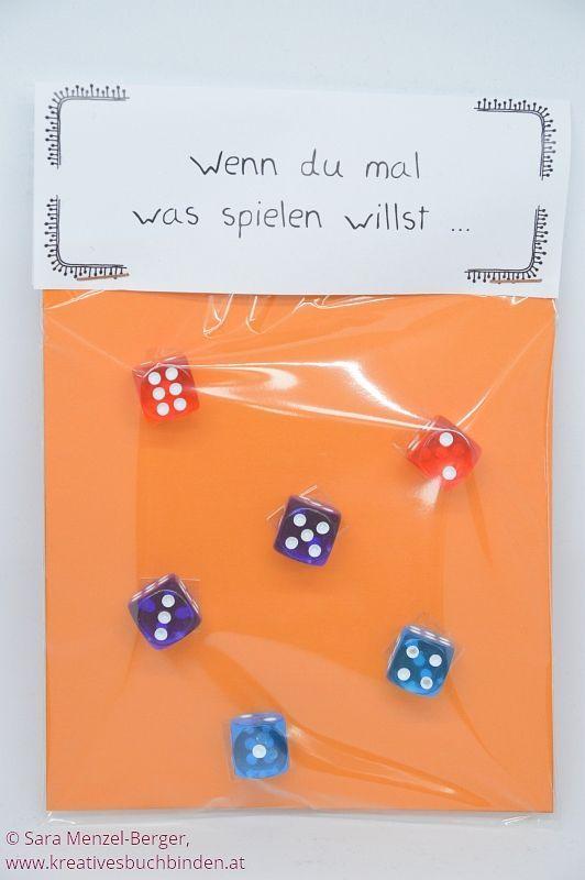 Wenn du mal was spielen willst ... Ideen für selbstgemachte Geschenke - die Wenn-Box #wennbox #selbstgemachtegeschenke #kreativesschaffen