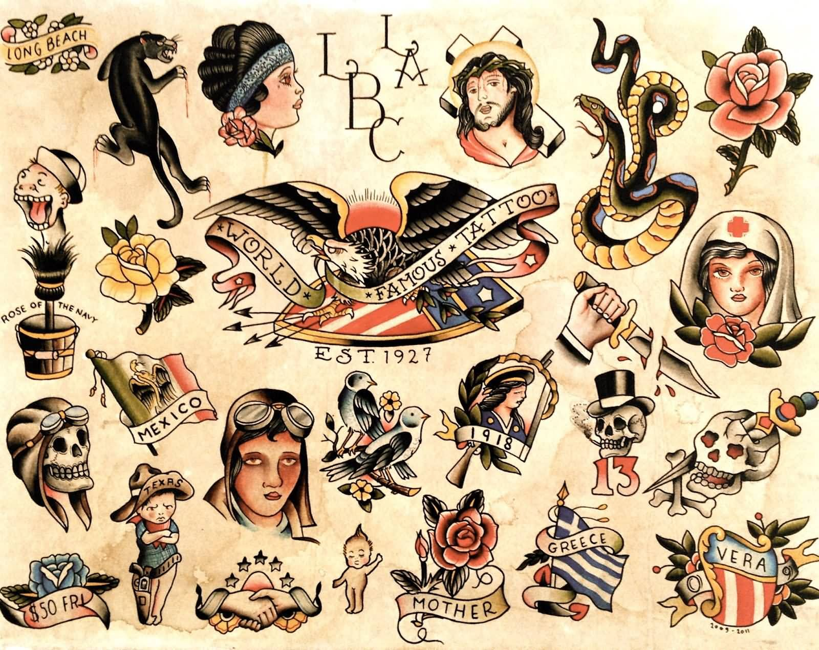 Old School Military Tattoos Wwwtopsimagescom