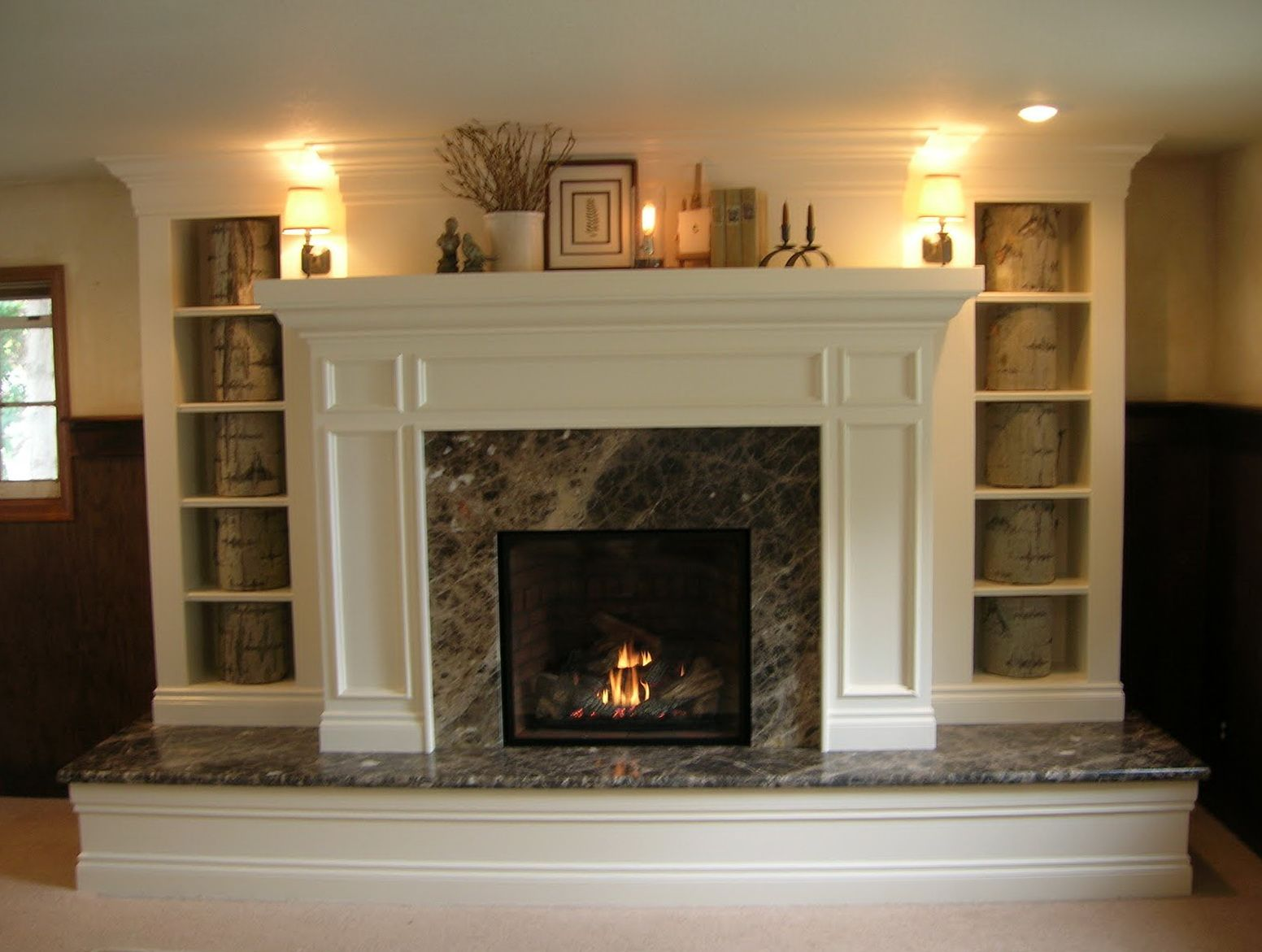 Fireplace Design With Raised Hearth
