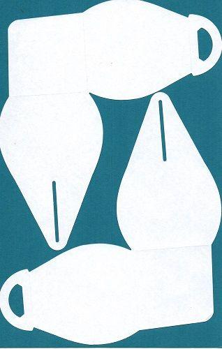 Curvy Keepsake Box using half sheet of cardstock (55 x 85