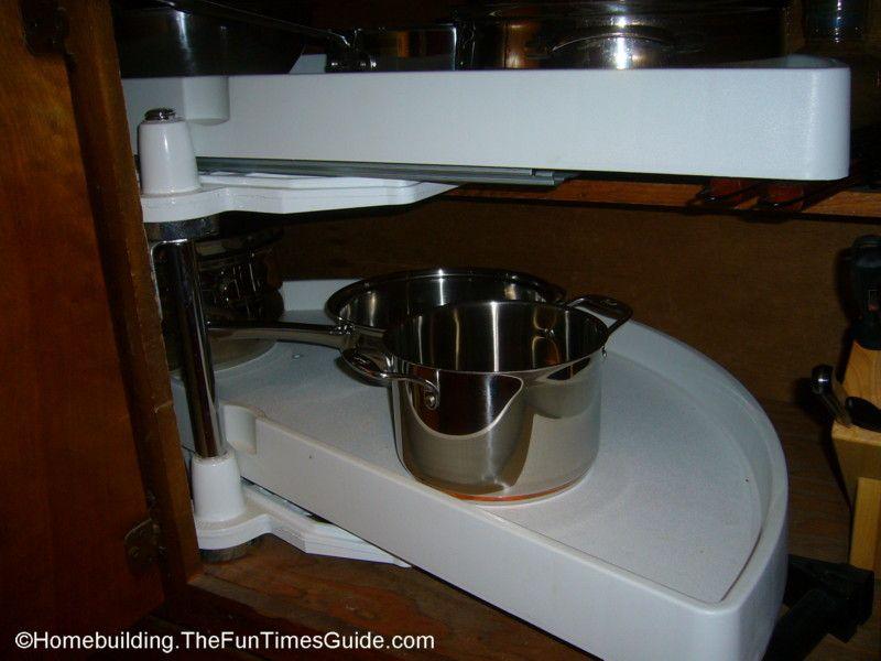 Kitchen Cabinet Storage Solutions Blind Corner Sliding Shelf Jpg