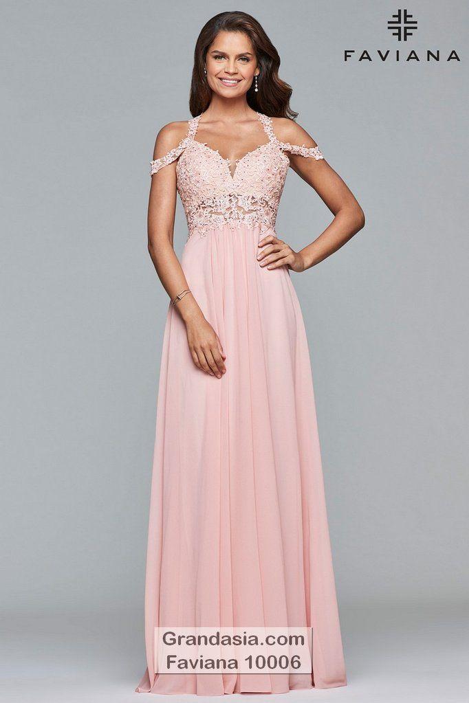 fc038b55997 Faviana 10006 Prom Dress - 00   Dusty Pink in 2019