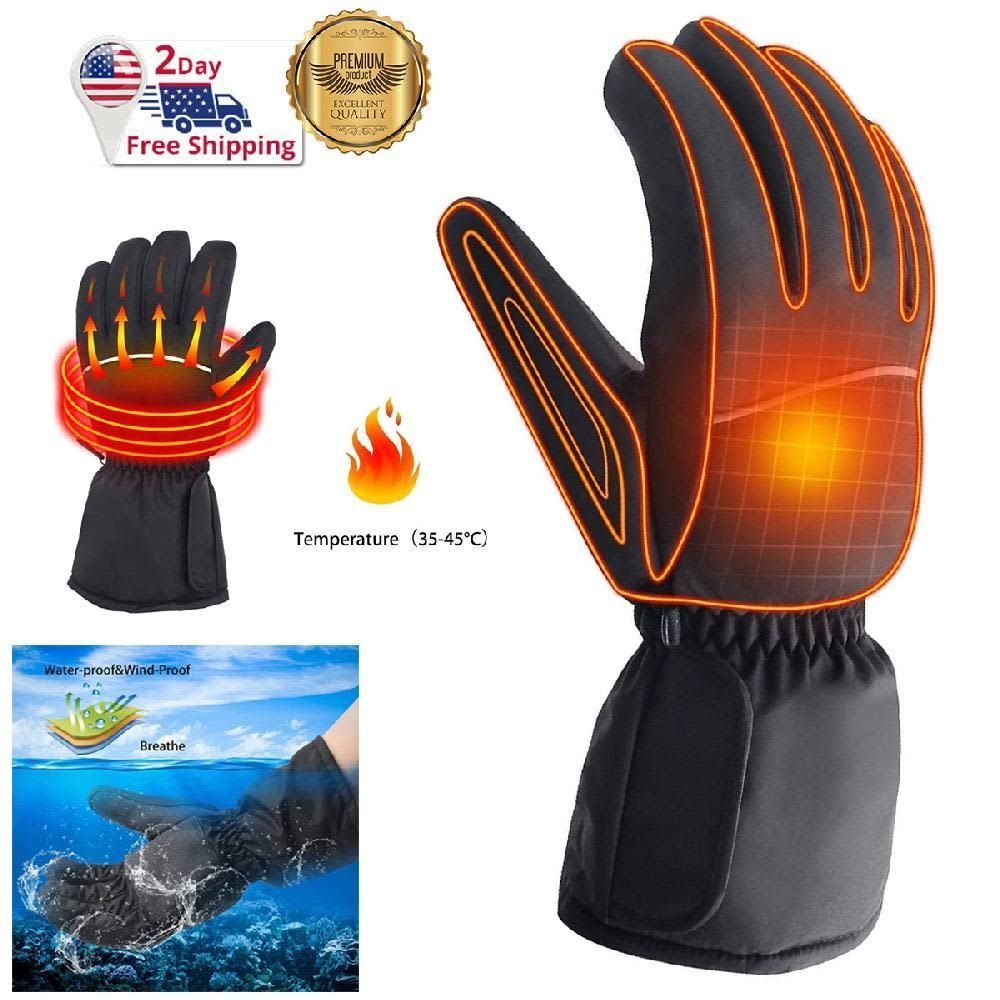 Heated Motorcycle Gloves Battery Powered Unisex Thermo Winter Warm Hand Cover Hand Warmers Gloves Motorcycle Gloves