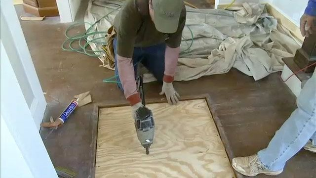 How To Patch A Hole In A Wood Floor From A Furnace Grate Today S Homeowner Floor Furnace Wood Floors Flooring