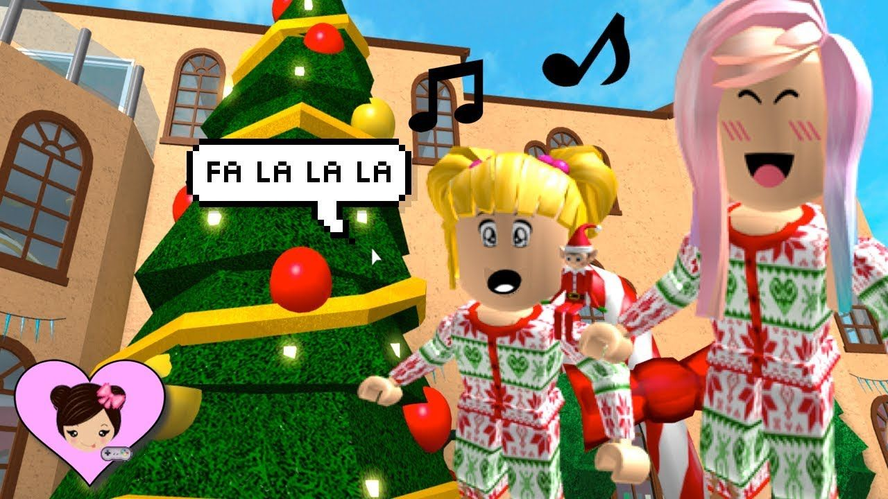 Christmas Fun In Bloxburg Roblox Roleplay With Goldie Singing Carols Christmas Fun Beautiful Christmas Trees Roblox