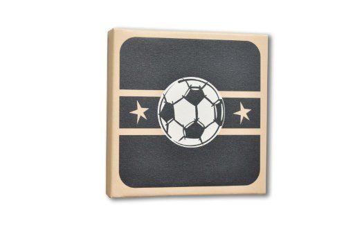 Homeworks Etc Soccer Ball Canvas Wall Art, Black/Tan/White, http://smile.amazon.com/dp/B0058SIOL6/ref=cm_sw_r_pi_awdm_c.RAxbYA178VD