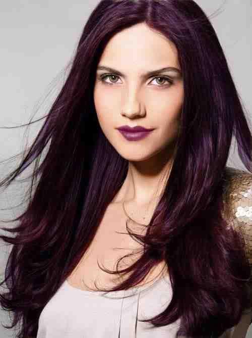 purple-ish brown hair