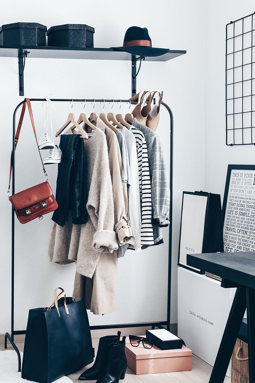 Kleiderschrank basics 15 must haves und wardrobe key for Minimalistischer kleiderschrank