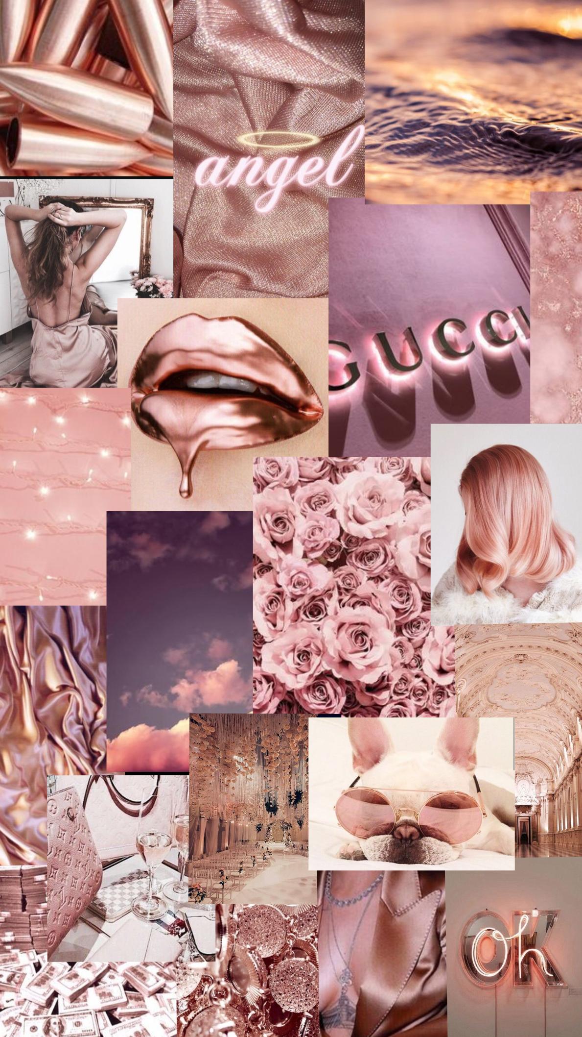 Rose Gold Wallpaper Aesthetic Tumblr