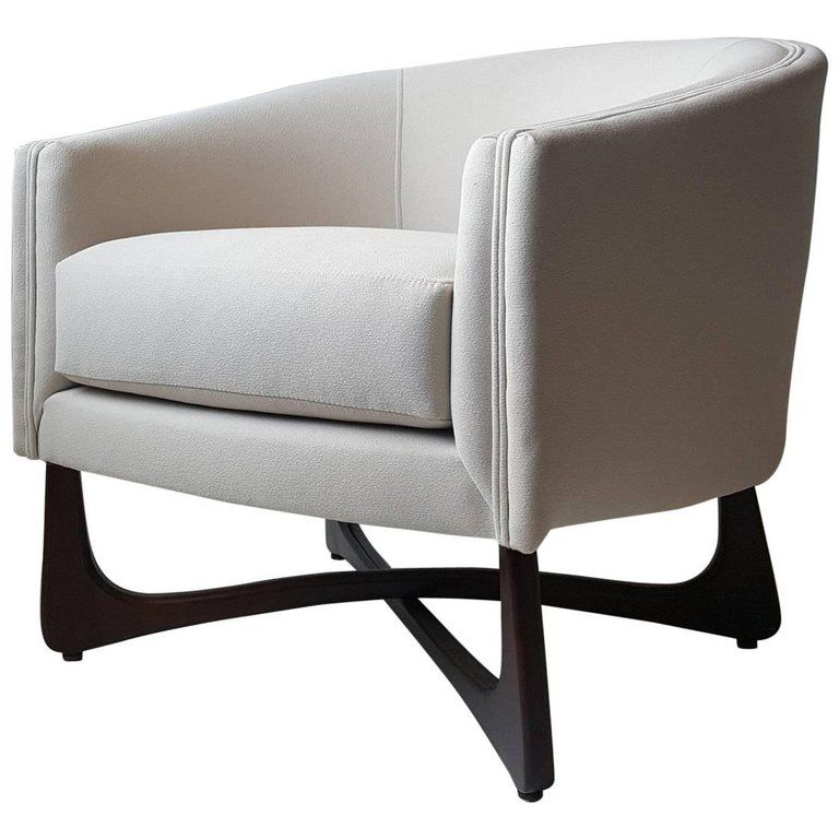 Adrian Pearsall Lounge Chair With Sculptural Walnut Base