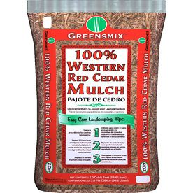 Greensmix 2 Cu Ft Red Shredded Cedar Mulch Lowes Fragrance