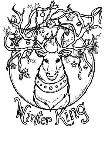 pooka pages coloring page for yule | Christmas | Pinterest | Yule ...
