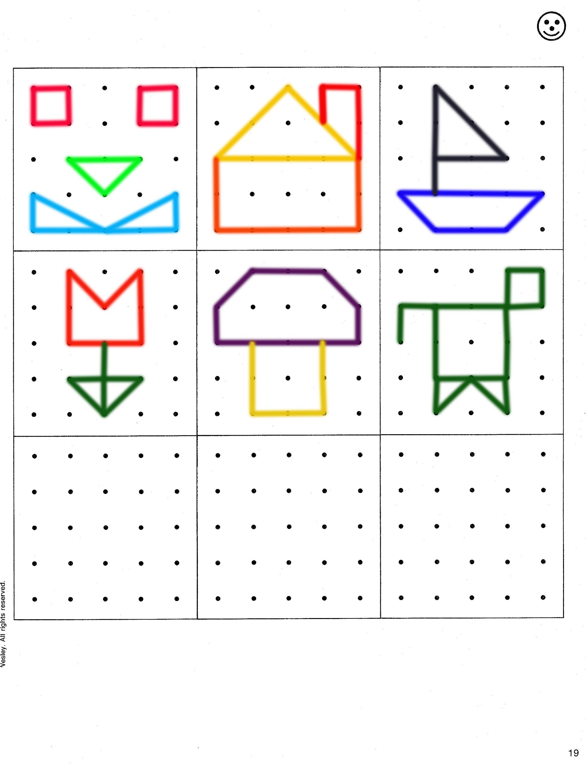 Geo Board Shapes Template