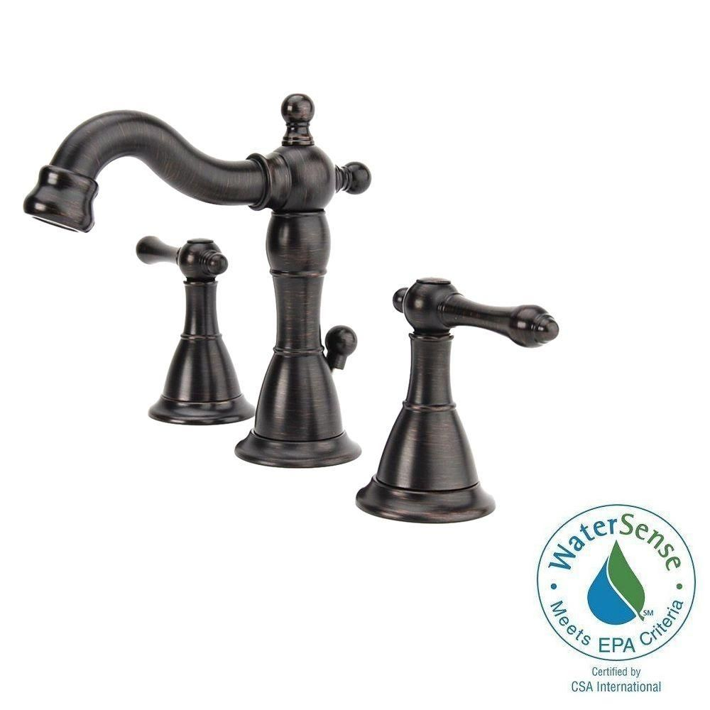 faucet faucets in bronze widespread bathroom tuscan handle ashfield pin pfister