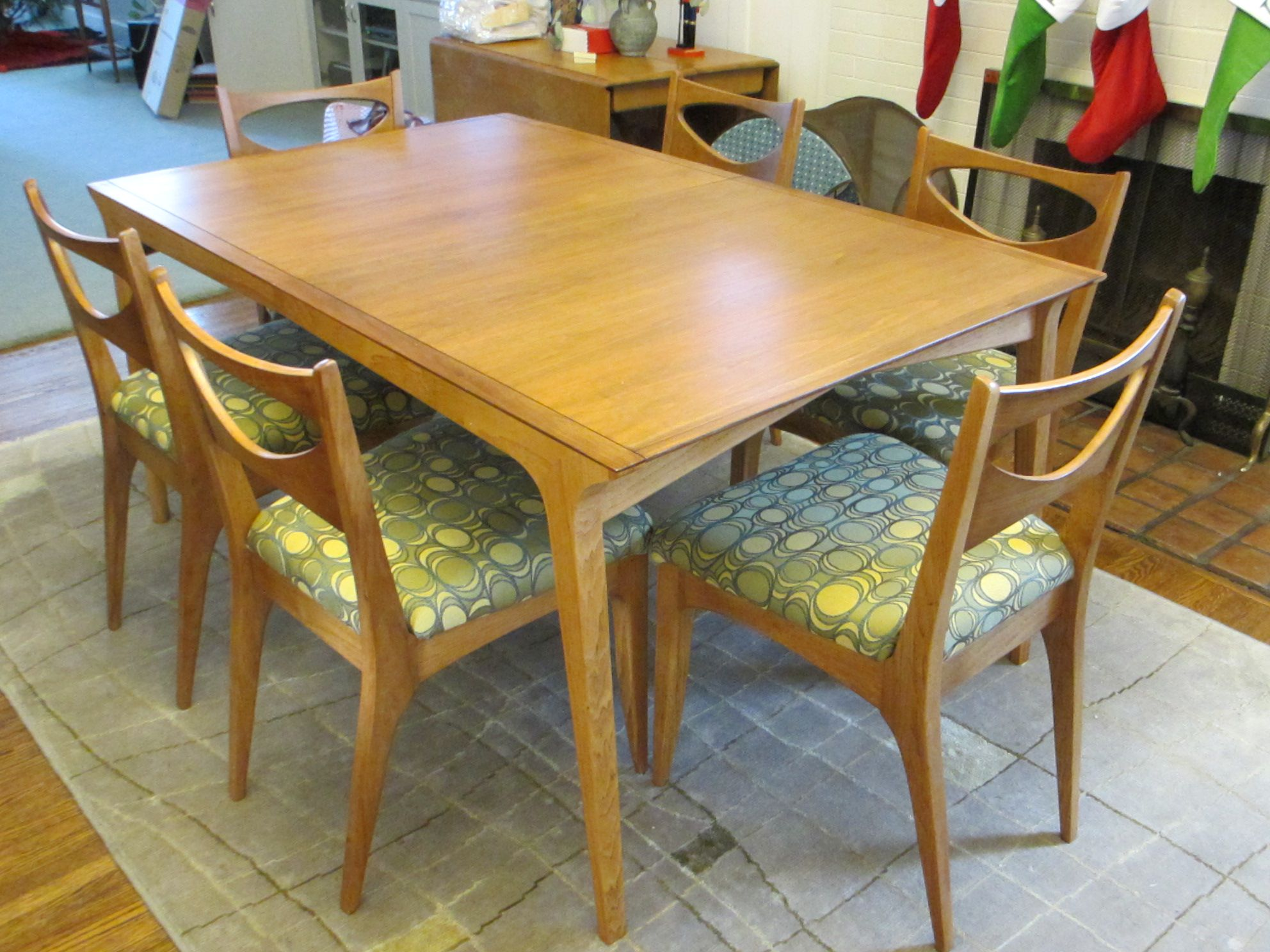 Another View Of Our Recently Refinished Mid Century Drexel Profile Dining Table And Chairs