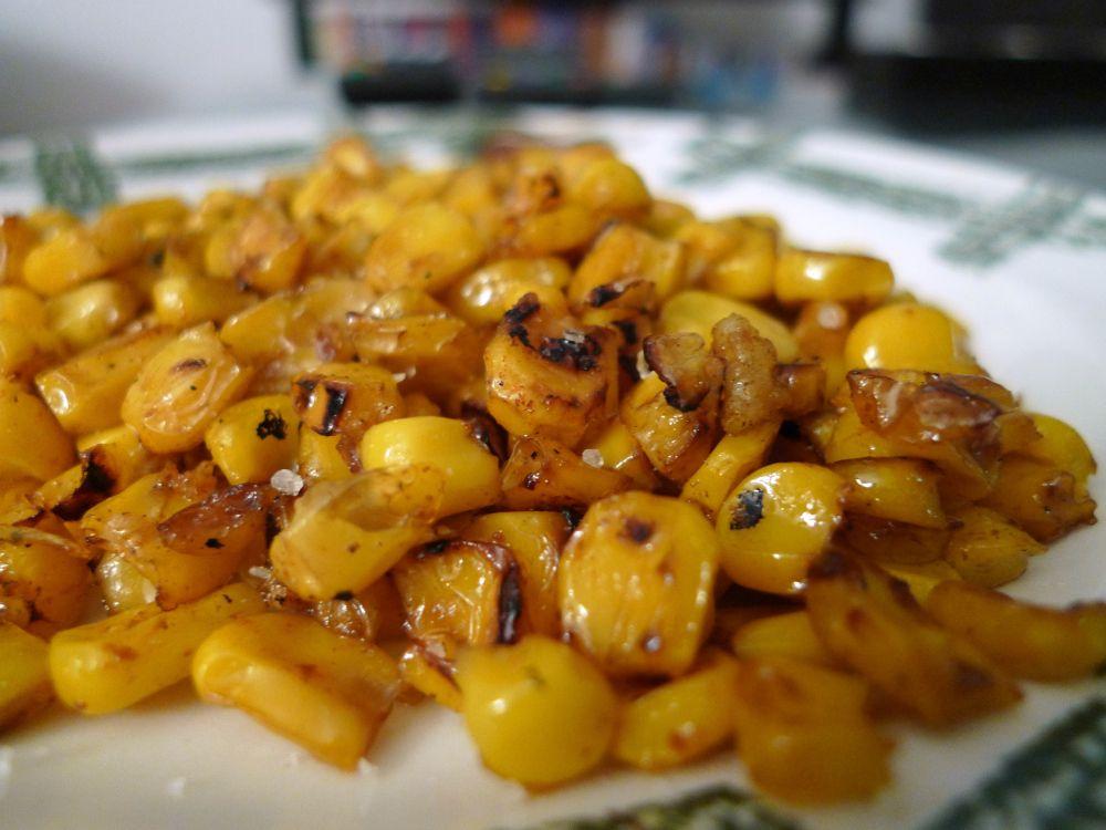 Roasted CornKernels with GarlicButter