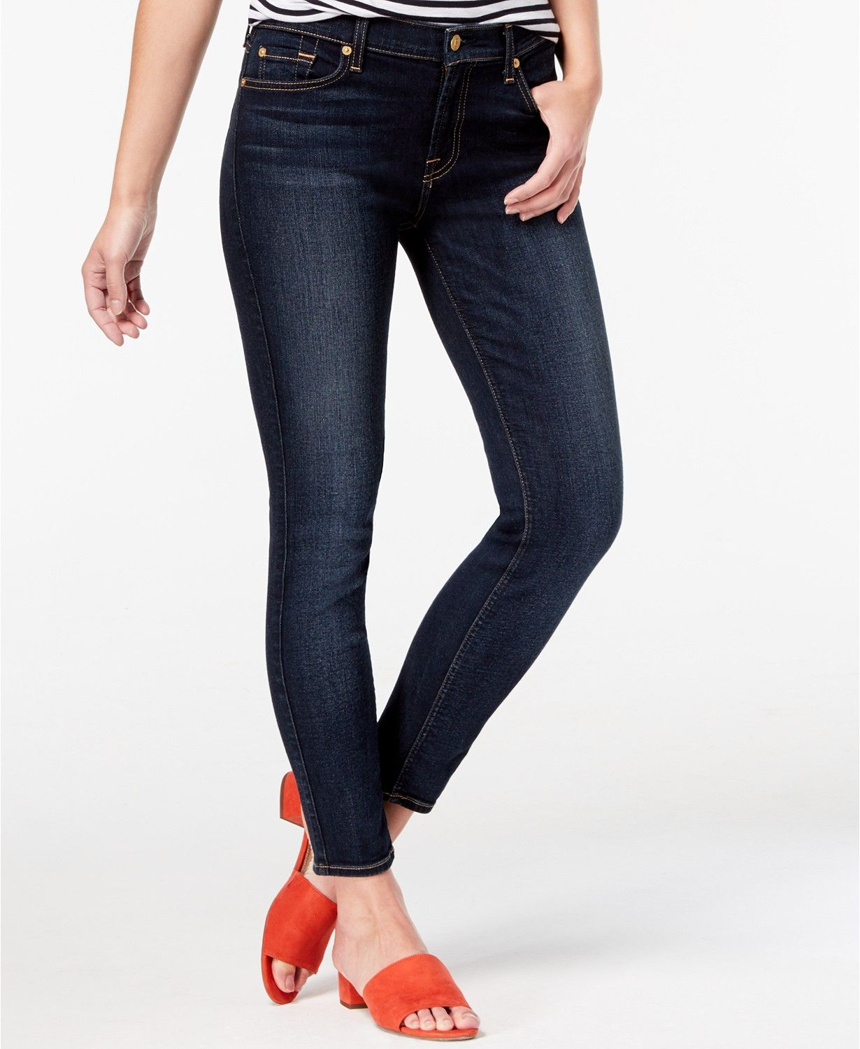 7 For All Mankind Ankle Skinny Jeans Jeans Women Macy S