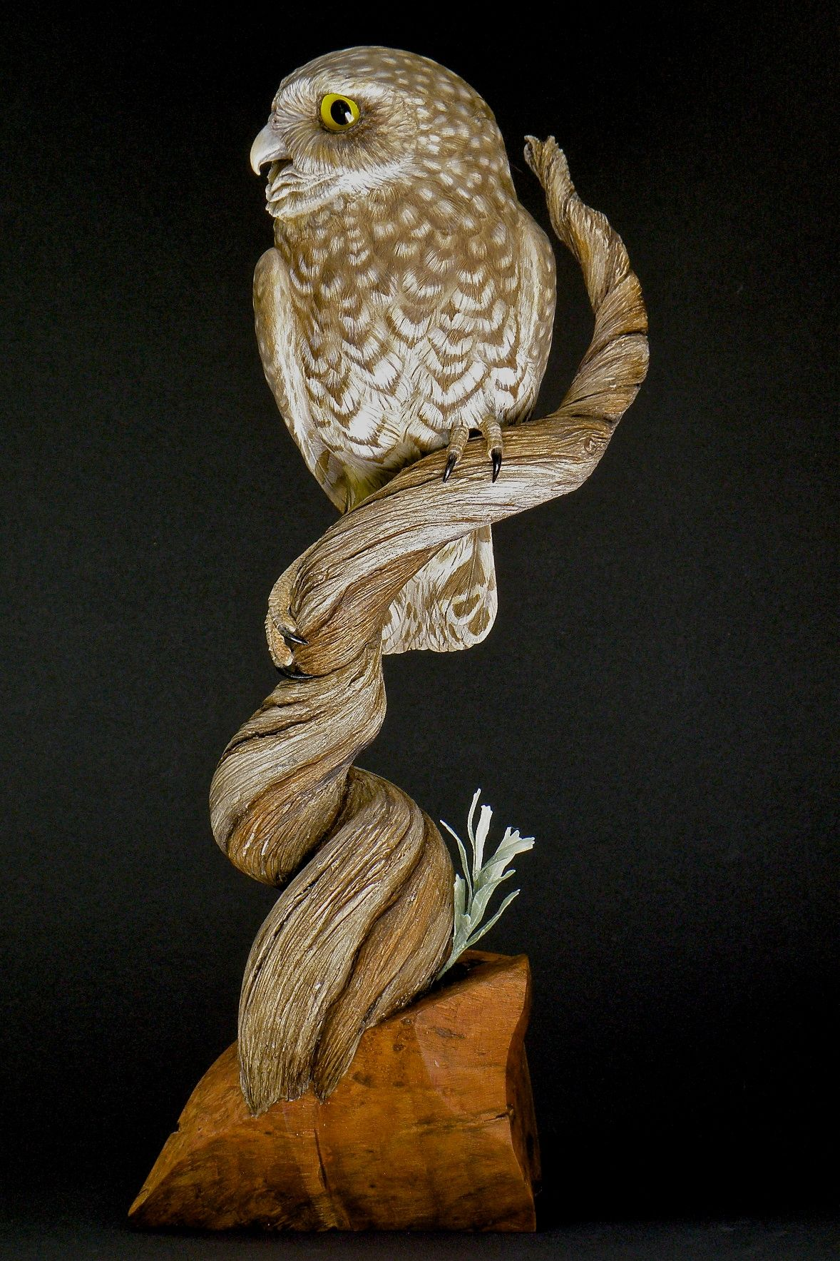 Chip carving pattern owl year of clean water