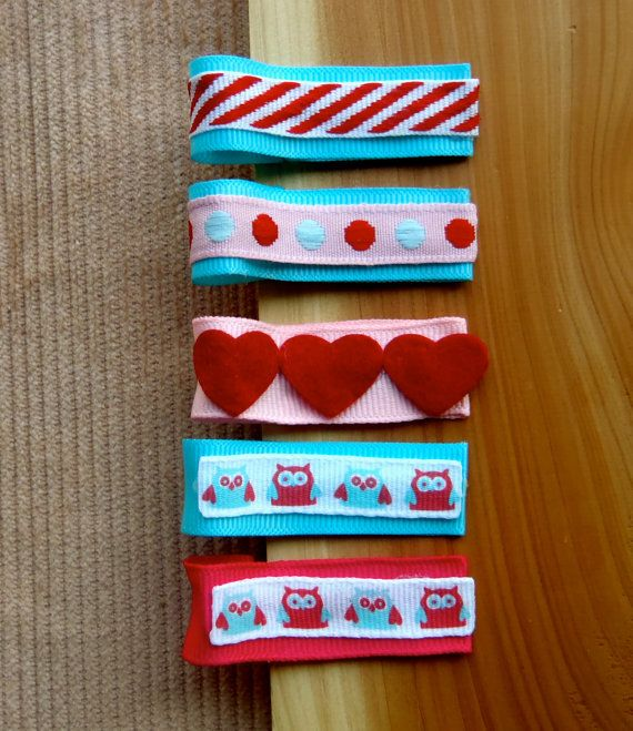 Sweet & Simple Valentine's Day Themed Hair Clips  by CutenCozyYarn