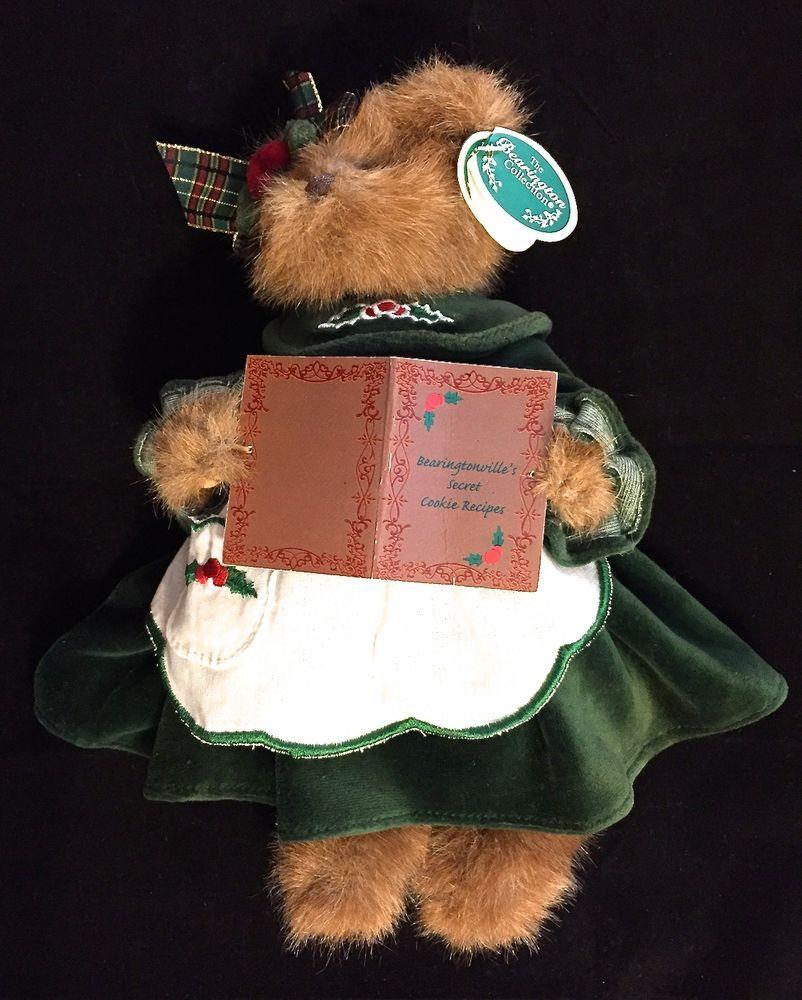 BEARINGTON MISSY SUGARBAKER Christmas Bear Green Velvet Dress