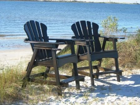 Tall Deck Chairs Quot See Over The Rail Quot Ebony Stain