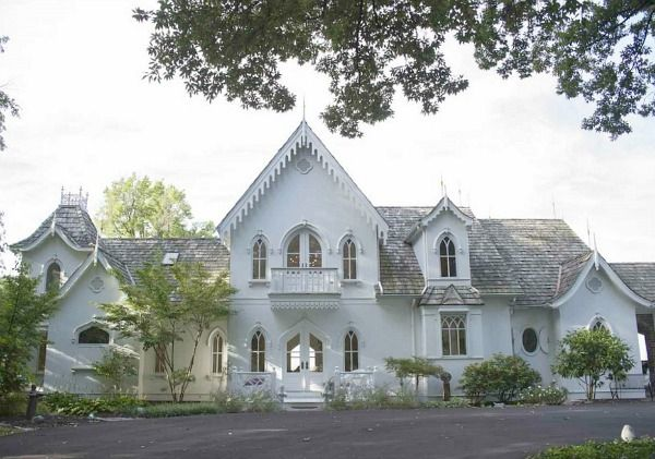 A new american gothic revival style home lands in a for Gothic revival farmhouse