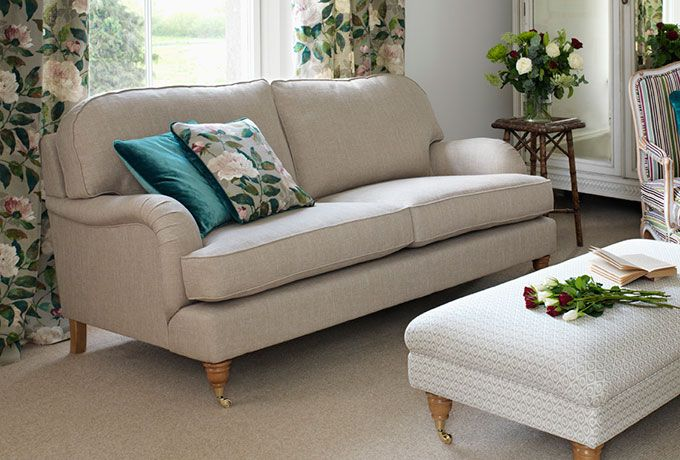 Barrington Sofa In Wesley Barrell Burhill Oatmeal Looking Very Elegant, Yet  Relaxed, With