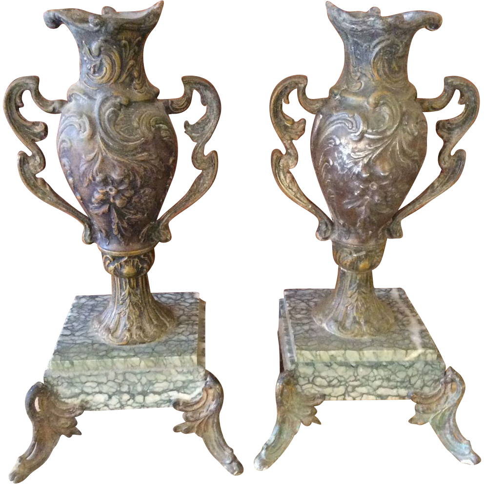 Urn your decorator cred with these French Mantle Vases or Urns from the Luxury French Collection on Ruby Lane