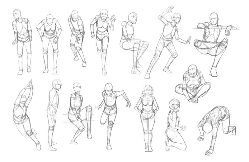 Drawing Children Body Proportions Figure Drawings Constructed   [ Art Edu ] Figure Drawings ...