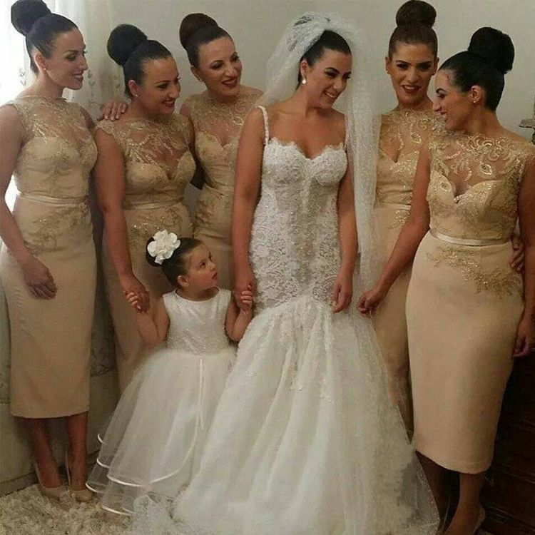 Find More Bridesmaid Dresses Information about Sexy Champagne Gold ...