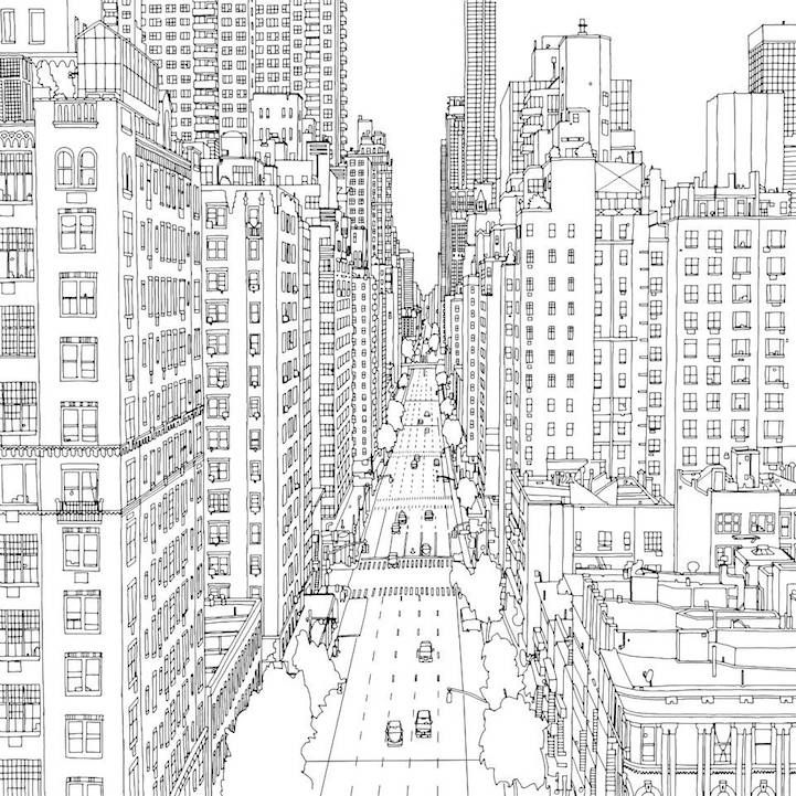Fantastic Cities An Exquisite Architectural Coloring Book For