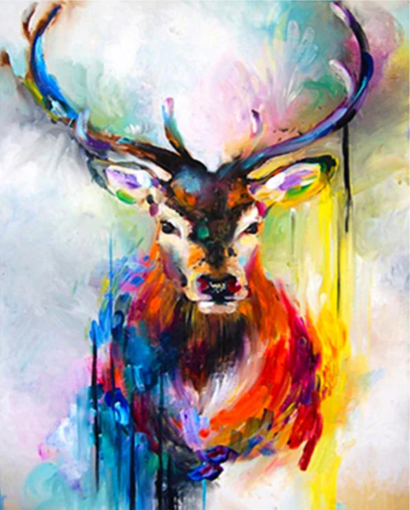 Paint by Numbers Kit Abstract Elk / Deer