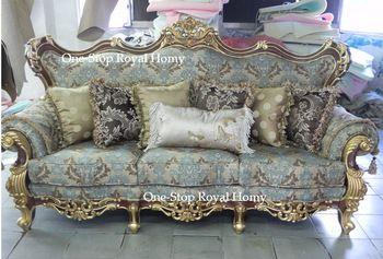 Stately Luxury Royal Antique Solid Wood Furnishing Sofa Set Jacquard Fabric Living Room Furnit Living Room Sets Furniture Elegant Home Decor Luxury Living Room