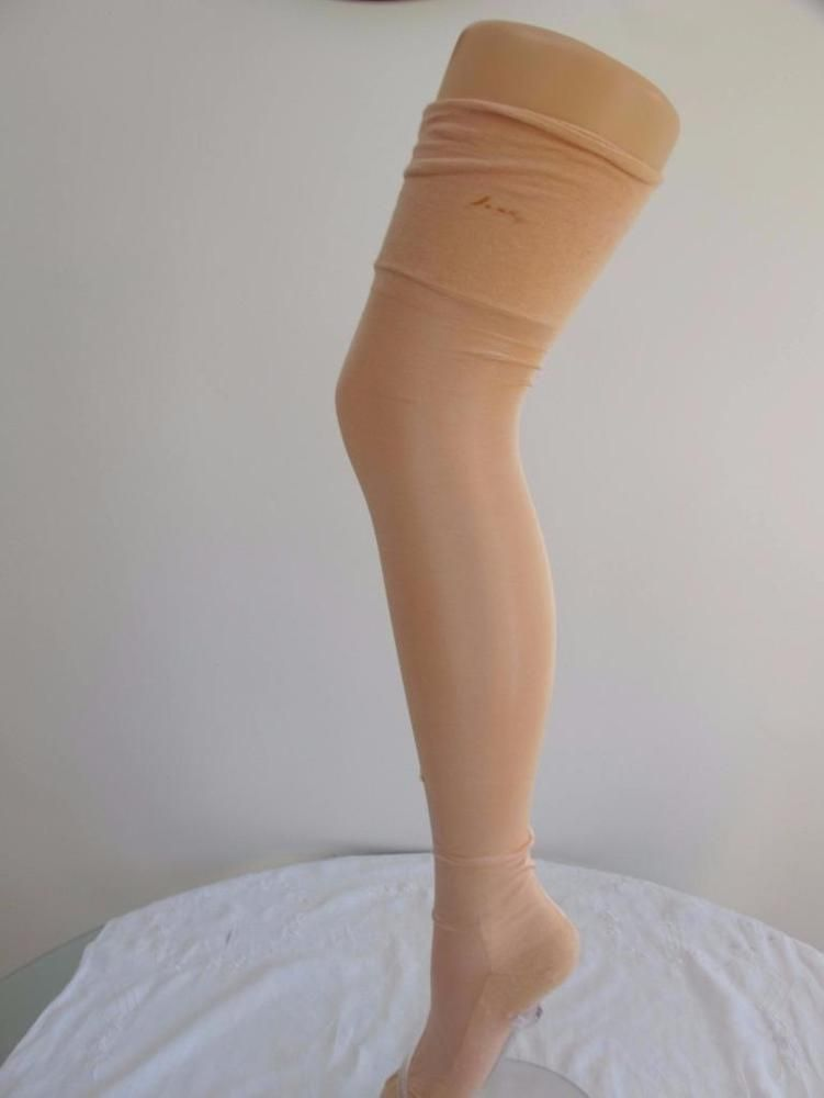 987a594b594 PAIR of ORIGINAL VINTAGE 1920 s FLAPPERS PEACH ARTIFICIAL SILK SEAMED  STOCKINGS