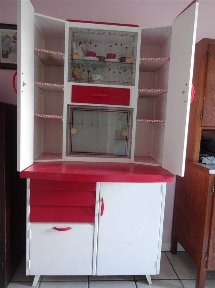 1950 Kitchens retro 1950 s kitsch kitchen red + white larder kitchenette
