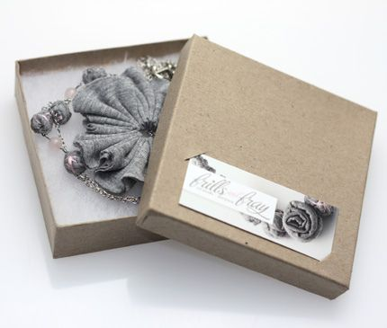 Packaging for my fabric jewelry by Pinkernaute via Flickr